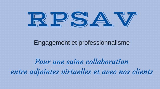 Pourquoi faire partie d'un réseau comme le RPSAV?