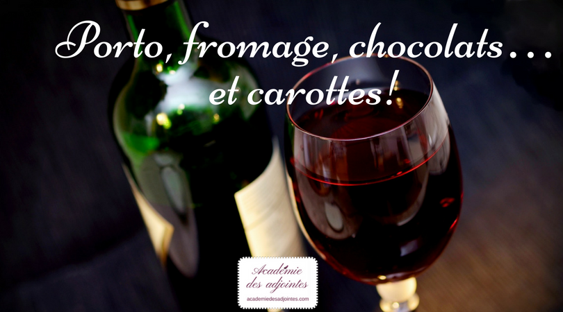Porto, fromage, chocolats… et carottes!